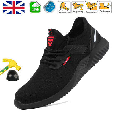 UK Safety Shoes for Men Women Steel Toe Trainers Lightweight Work Shoes Sports