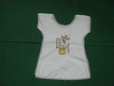 Blouse with Sides Open Cotton Edges Lace (Year Holy Medugorje 1985)
