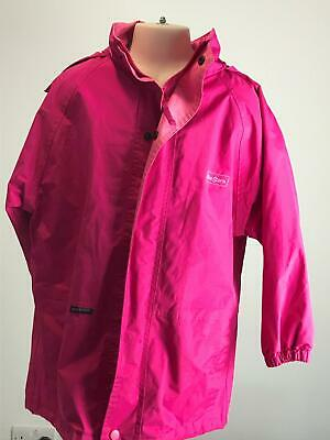 Girls Peter Storm Pink Waterproof Hooded Rain Coat Jacket Kids Age 7-8 Yrs
