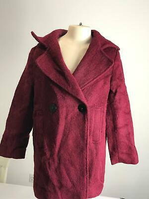Girls Zara Maroon Warm Winter Coat Jacket Kids Age 10 Years