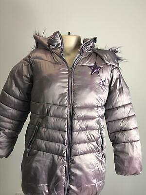 Girls Next Lilac & Purple Warm Winter Hooded Parka Jacket Kids Age 8 Years