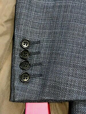 CANALI Mens SPORT COAT JACKET BLAZER 44R Blue Wool MADE IN ITALY