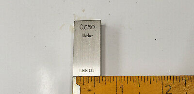 "0.650""  Webber Starrett Rectangle Steel Gage Gauge Block. shelf-f5 #1 webber box"