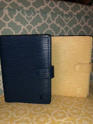 💯 BLUE Authentic Toledo LOUIS VUITTON BLUE EPI AGENDA PM Day Planner ~US SELLER