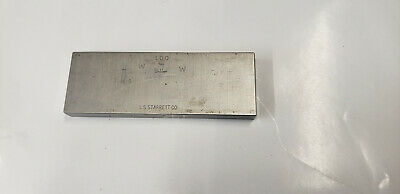 100mm Webber Starrett Rectangle Steel Gage Gauge Block. shelf-f4 #2 webber box