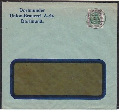 DR Mi Nr. 150 EF Bier Brauerei Union AG Brief, gel. ab Dortmund 1922, Germania