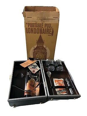 The Portable Pub by Londonaire – Limited Travel Bar Drink Case W/ Key & Box