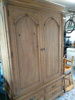 Linen Press Wardrobe Farmhouse Rustic