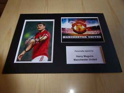 Harry Maguire Manchester United mounted photograph original autograph signed