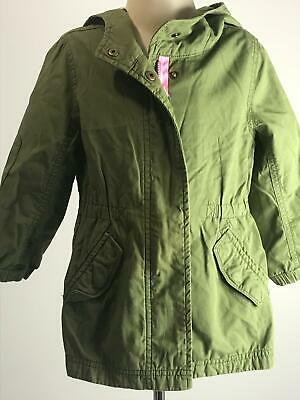 Girls Baby Gap Khaki & Pink  Light Weight Parker Coat Jacket Kids Age 3 Years