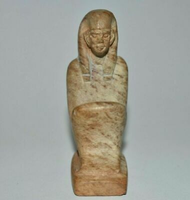 Rare ANCIENT Egyptian stone block statue new kingdom 1549-1077