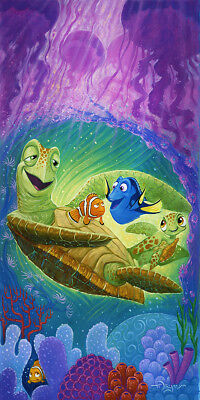Disney Fine Art Finding Nemo CHEER UP DUDE by Tim Rogerson LE Giclée on Canvas