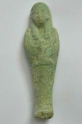 Rare ANCIENT Egyptian faience USHABTI statue b new kingdom 1549-1077 BC