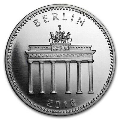 2016   1 oz Silver (Berlin Mint)  / Brandenburg Gate, / China Panda BU