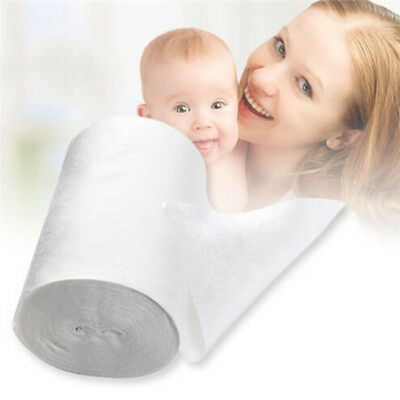 Baby Flushable Biodegradable Cloth Nappy Diaper Bamboo Liners 100 Sheet/Roll QK
