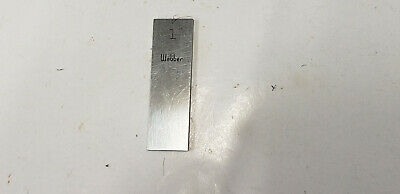 1mm Webber Starrett Rectangle Steel Gage Gauge Block. shelf-f4 #2 webber box
