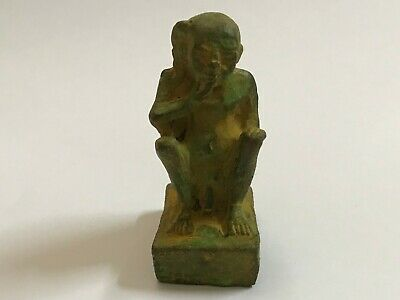 RARE ANCIENT EGYPTIAN ANTIQUE HARPOCRATES faience amulet 1549-672