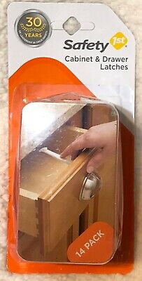 Safety 1st Cabinet & Drawer Latches 14 Pack 48390 Child Proofing Made Easy