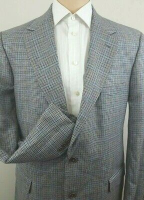 BROOKS BROTHERS Mens Houndstooth Windowpane 2 Button Sport Coat Jacket Size 38L