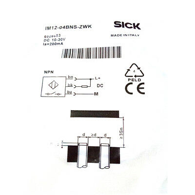 H● SICK IM12-04BNS-ZWK Cylindrical thread design  NPN ,New