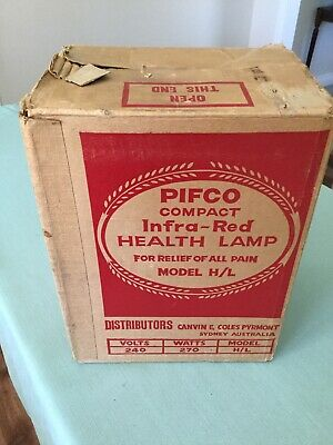 Pifco health lamp ( antique / vintage ) in original box and working