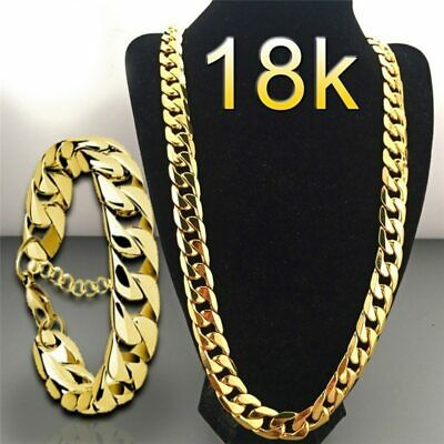 """ICED Miami Cuban Choker Chain Necklace Hip Hop Mens Gold Silver 14mm 18"""" - 30"""""""