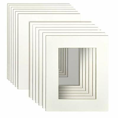 """8x10"""" White Picture Mats with Core Bevel Cut Frame Mattes for 5x7"""" Pictures NEW"""