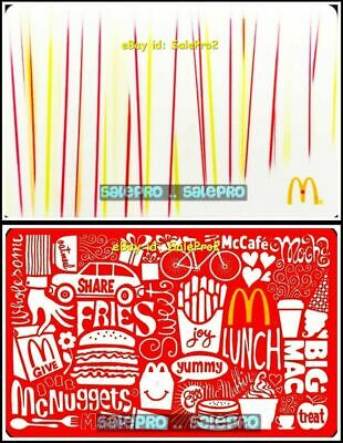 2x McDONALD MODERN ART DECO EGG McNUGGETS GIVE THE JOY COLLECTIBLE GIFT CARD LOT