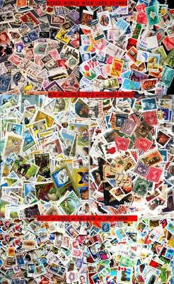 100x STAMPS PER LOT WORLDWIDE USED FROM MEGA HUGE MIXTURE STAMP COLLECTION LOT