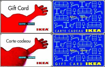 4x IKEA LOVE FURNITURE CANDLE TOOL 2 VARIATION ENG/FRE COLLECTIBLE GIFT CARD LOT