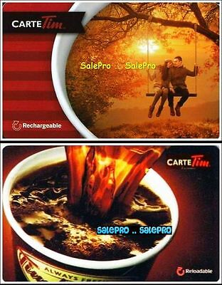 2x TIM HORTON 2013 2015 COFFEE LOVE ON SWING FRENCH COLLECTIBLE GIFT CARD LOT