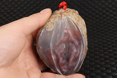 big unique Chinese natural jade agate hand carved life door statue figure