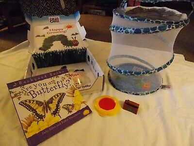 Eric Carle Hungry Caterpillar Butterfly Garden Habitat & accessories - EUC