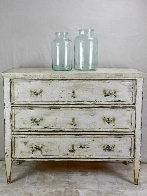 """19th Century three door commode with crackled paint finish 43¾"""""""