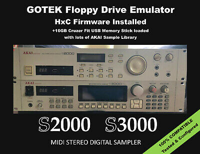 Floppy Drive Emulator HxC Firmware for AKAI S-2000 S-3000 +  LIBRARY INCLUDED