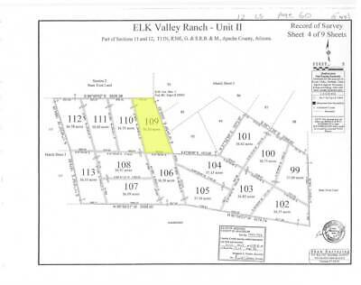 36.5 acres recreational lot Elk Valley Ranch St. Johns, Apache County Arizona