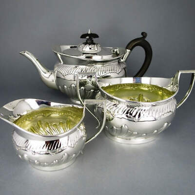 Magnificent Victorian Tea Set in Sterling Silver