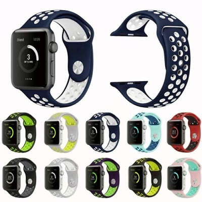 For Apple Watch Band Sport Silicone Wristband iWatch Strap 44mm 40mm 38mm 42mm