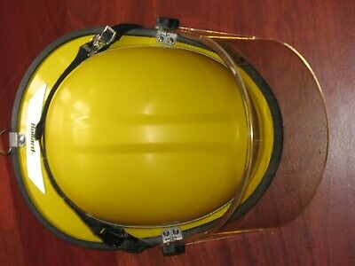 Bullard PX Firedome Series Fire Helmet Yellow & Face-Shield NFPA 2009, USED