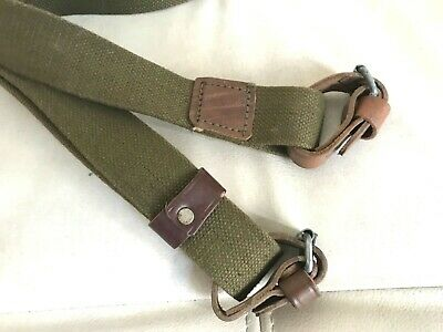 Original Soviet Mosin Nagant rifle carrying sling with leather straps 1950-s NO