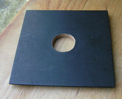 "Burke & James 4x4""  wooden  lens board  24.3mm hole"