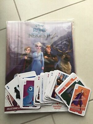 Collection complète 72 cartes Carrefour la Reine des Neiges 2 (Sans l'album)