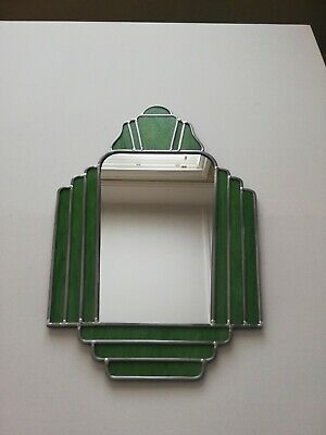 Art Deco Style Stained Glass Mirror
