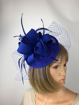 Royal Blue Fascinator On Clip Mother Of The Bride Occasion Wedding Racers