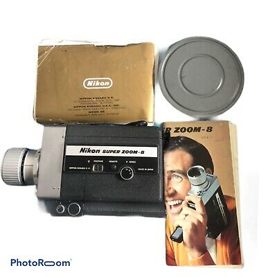 Vintage Nikon Super Zoom 8 Made In Japan With Box Film And Owners Manual