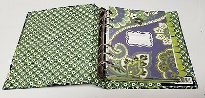 "VERA BRADLEY Rhythm & Blues 6.25"" x 7.5"" 6 Ring Binder Address Book"