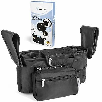 Abebez Baby Stroller Organizer with Cup Holders Baby Shower Gifts Extra STORAGE!
