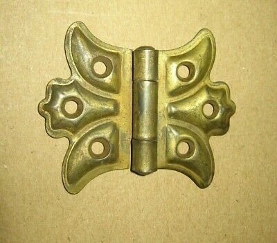 Vintage Gold Tone Heavy Metal Cupboard Cabinet Butterfly Hinge~Stock Part c