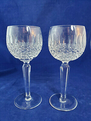Waterford Hand Blown Crystal Wine Hock Colleen Pattern Set of 2
