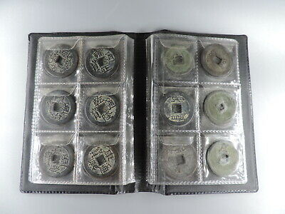 30PCS Antique Chinese copper Coins Empire Period  Coin Collection Album Book